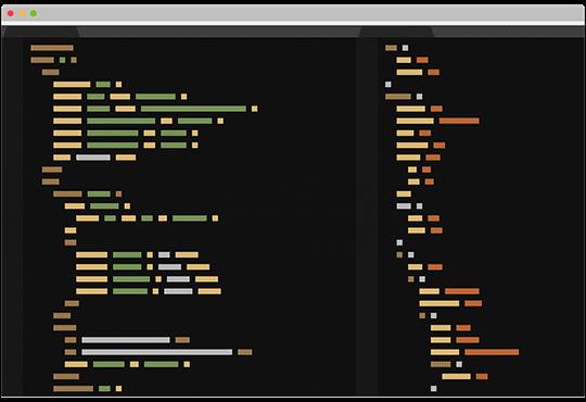 mockup de programación código