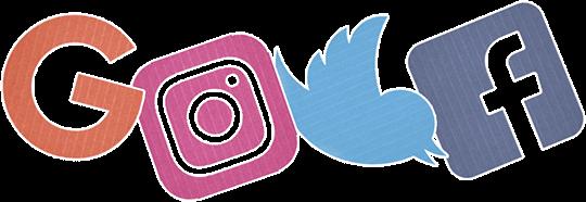 google instagram twitter facebook carton logos