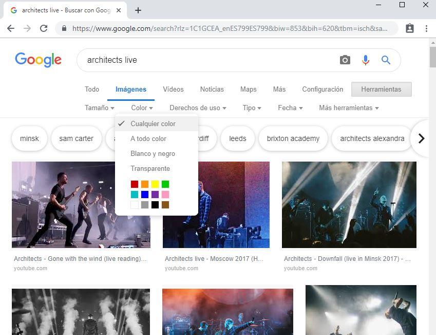 Busqueda mediante herramientas en imagenes