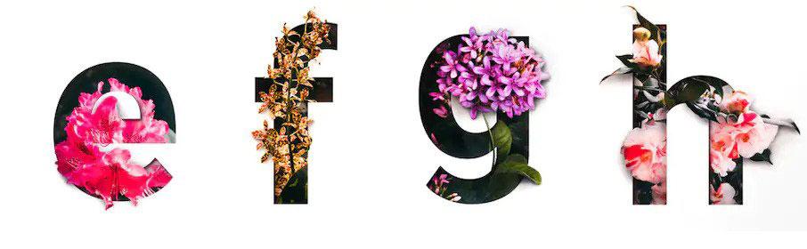 tipografia con superposiciones